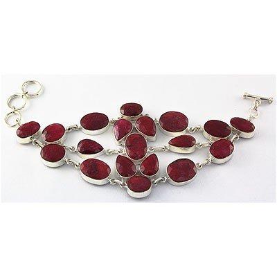 320ctw APPROX Handmade Silver Ruby Bracelet