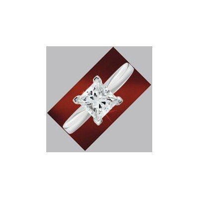 0.85 ct Princess cut Diamond Solitaire Ring, G-H, VVS