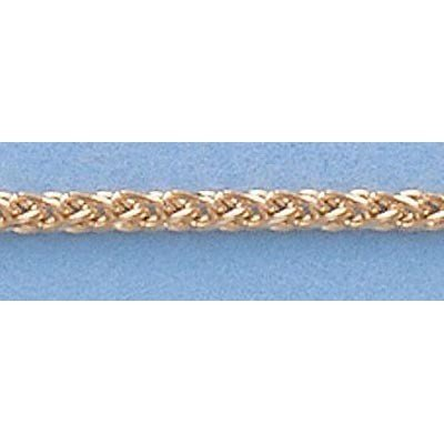 """Pure Gold 16"""" 14k  Gold-Yellow  1.5mm Wheat Chain 4.6g"""