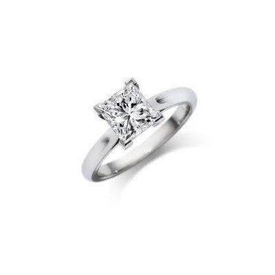 0.50 ct Princess cut Diamond Solitaire Ring, G-H, SI2