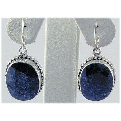 49ctw APPROX Silver Oval Shape Sapphire Earring