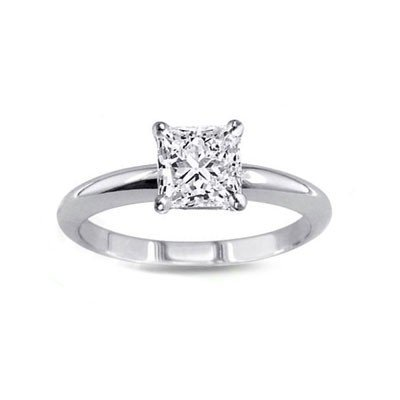 0.85 ct Princess cut Diamond Solitaire Ring, G-H, VS