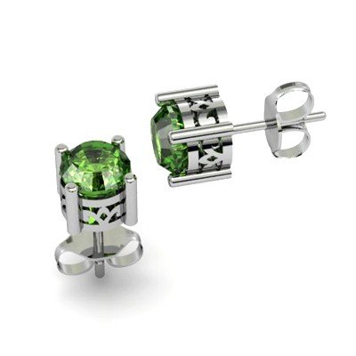 Tourmaline 1.5ctw Earring 14kt White Gold