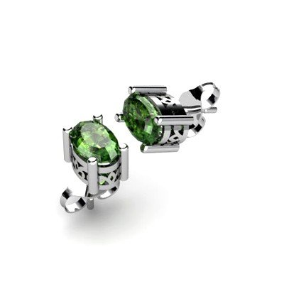 Tourmaline 1ctw Earring 14kt White Gold