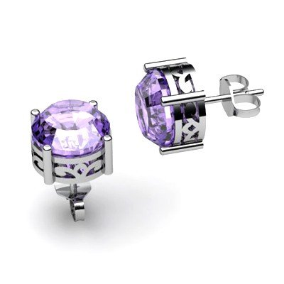 Tanzanite 3.1ctw Earring 14kt White Gold