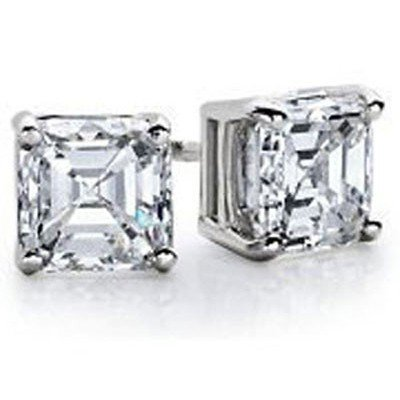 1.25 ctw Princess cut Diamond Stud Earrings I-J, SI2