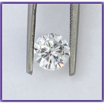 Certified 0.7 ct Round Brilliant Diamond H,SI2