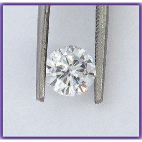 EGL Certified Diamond Round 0.90ctw H,SI2