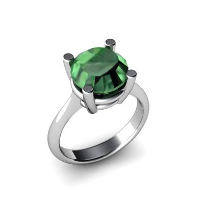 Emerald 6.1ctw Ring 14kt White Gold