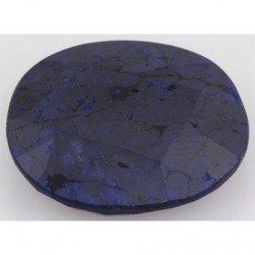 68.37ctw Genuine Dark Blue Sapphire Stone Oval Shape