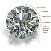 Certified 100 ct Round Brilliant Diamond ESI1