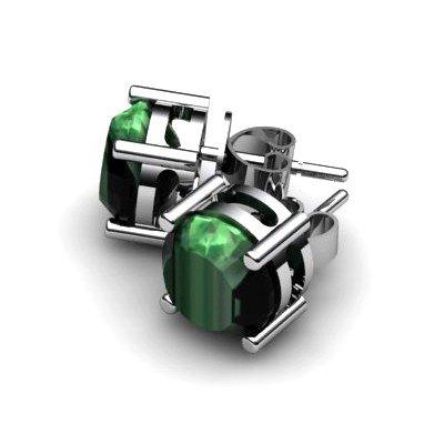 Emerald 3.4ctw Earring 14kt White Gold
