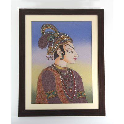 "24 1/2"" x 30 1/2"" Traditional King Gemstone Painting"