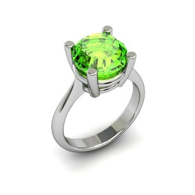 Peridot 5.25ctw Ring 14kt White Gold