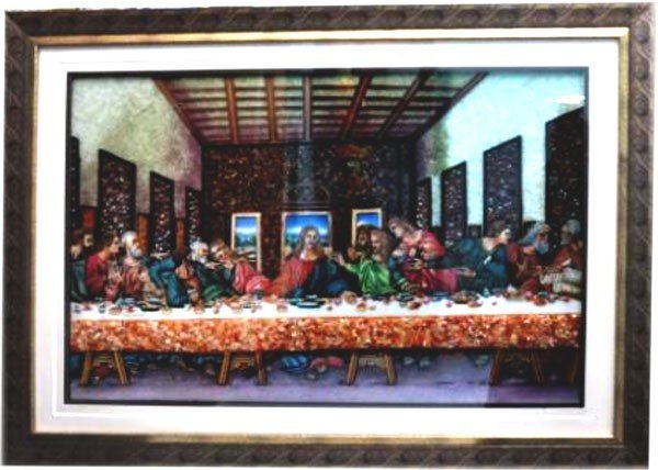 3D Last Supper Gemstone Painting size 33.5""
