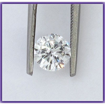 EGL Certified Diamond Round 0.90ctw D,SI2