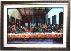 """3D Last Supper Gemstone Painting size 33.5""""x43.5"""""""