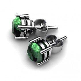 Emerald 1.60ctw Earring 14kt White Gold