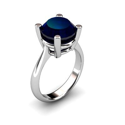 Sapphire 4.50ctw Ring 14kt White Gold
