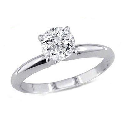0.50 ct Round cut Diamond Solitaire Ring, G-H, VS