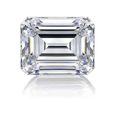 GIA 1.04ctw Certified Emerald Brilliant Diamond H,SI1