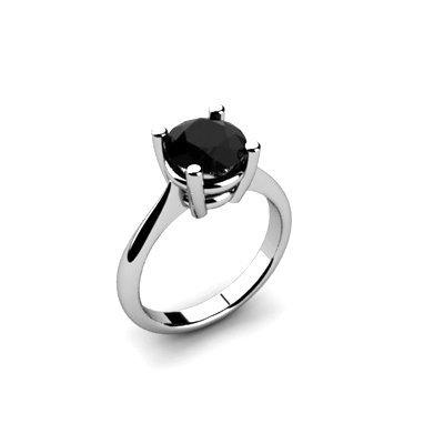 Black Diamond 1.25ctw Ring 14kt White Gold