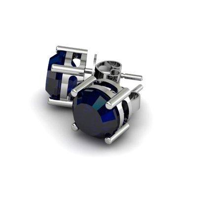 Sapphire 4.50ctw Earring 14kt White Gold