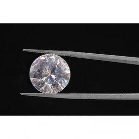 EGL Certified Diamond Round 0.51ctw F,SI2