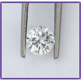 EGL Certified Diamond Round 0.71ctw G,SI1