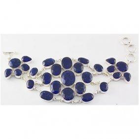 400ctw APPROX Beautiful Silver Sapphire Bracelet