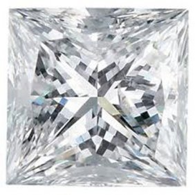 GIA 2.02 ctw Certified Princess Brilliant Diamond D,VVS