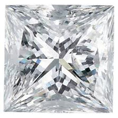 GIA 2.02 ctw Certified Princess Brilliant Diamond D,VVS