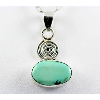 30.ctw Turquoise Silver Pendant