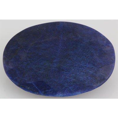 71.44ctw Genuine Intense Blue Sapphire Stone Flat Oval