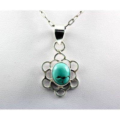 19.ctw Turquoise Silver Pendant