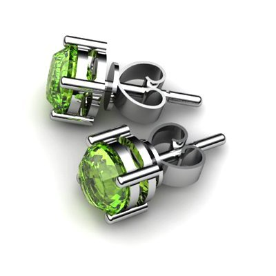 Peridot 1ctw Earring 14kt White Gold
