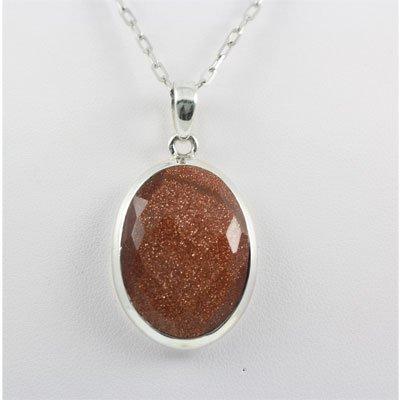 59.ctw Sandstone Carnelian Silver Pendant