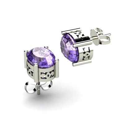 Tanzanite 3.2ctw Earring 14kt White Gold