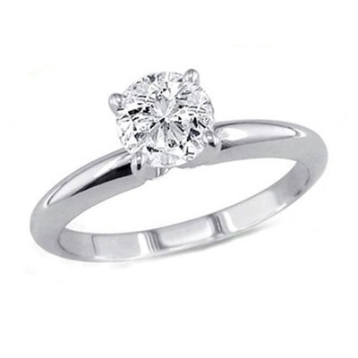 0.85 ct Round cut Diamond Solitaire Ring, G-H, VVS