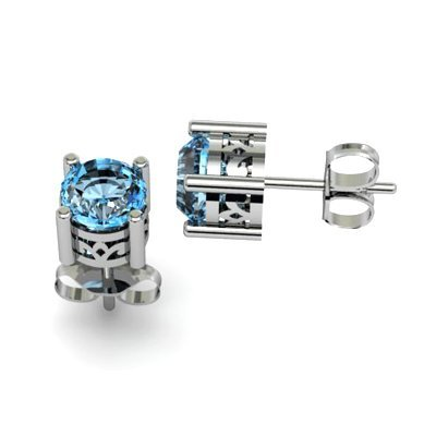 Topaz 2ctw Earring 14kt White Gold