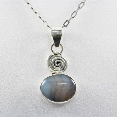 26.5ctw Blue Lace Silver Pendant