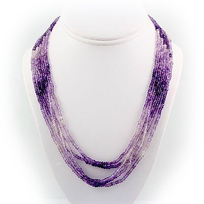 268.5ctw Faceted Amethyst Silver in Full Sets