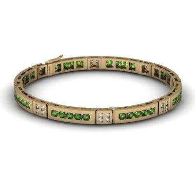 Tourmaline 2.56 ctw & Diamond Bracelet 14kt W OR Y Gold