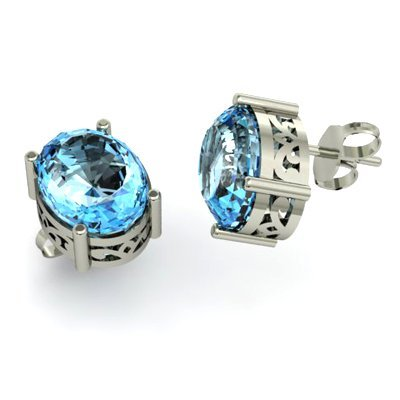 Topaz 7.00ctw Earring 14kt White Gold
