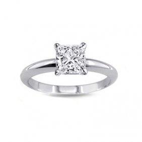 0.50 ct Princess cut Diamond Solitaire Ring, G-H, VS