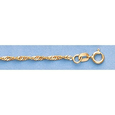 """Pure Gold 16"""" 14k Singapore Gold-Yellow 1.8mm Chain2.5g - 2"""