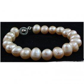 110.01ctw Philippines 9-10mm Freshwater Pearl Bracelet