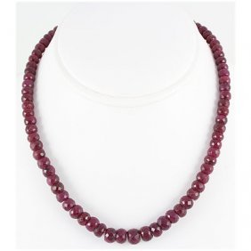 268.13ctw Natural Ruby Rondelles Necklace
