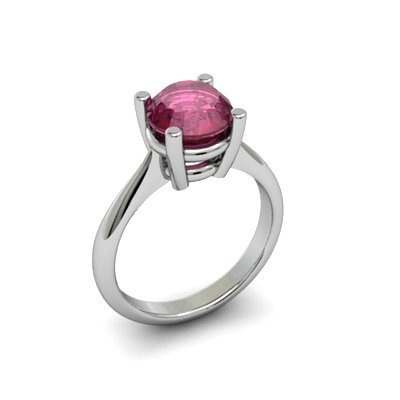Ruby 2.25ctw Ring 14kt White Gold
