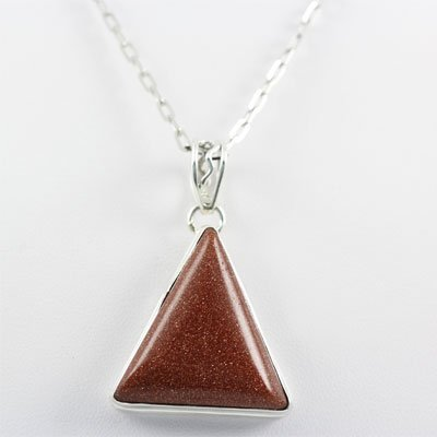 48.ctw Sandstone Carnelian Silver Pendant